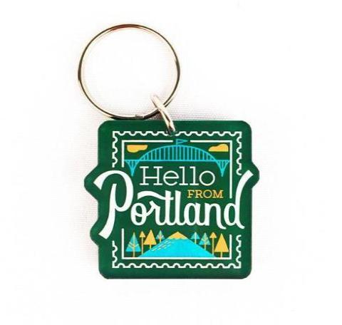 Hello Stamp Keychain - Pacific Northfresh  - 1