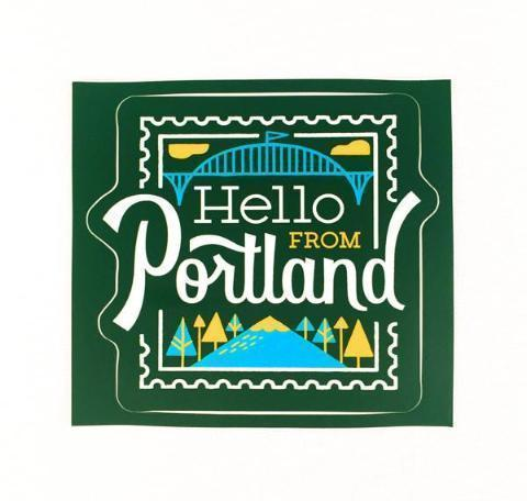 Hello Stamp Sticker - Pacific Northfresh  - 1