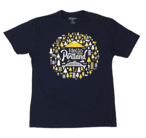 Hello Burst Tee, Navy - Pacific Northfresh  - 1