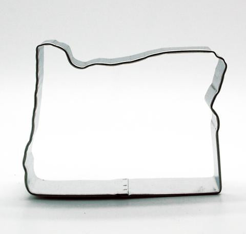 Cookie Cutter in the shape of the state of Oregon.