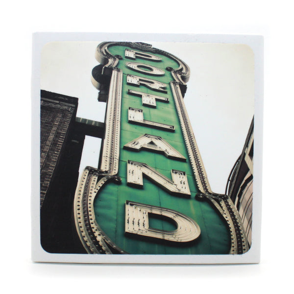 Drink Coaster featuring the famous Portland Sign.
