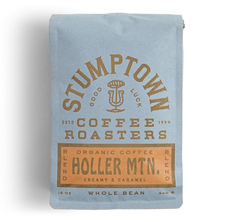 14 ounce bag of Holler Mountain organic coffee with caramel.