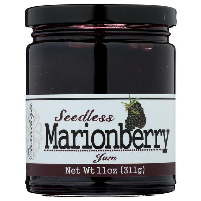 11 ounce jar of of Seedless Marionberry Jam.