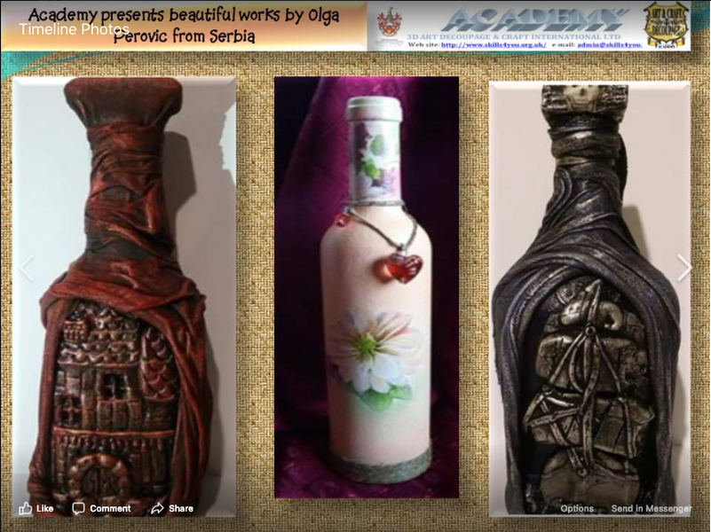 Olga Perovic's Artworks were qualified in the Belgrade Decoupage Art and Craft Competition