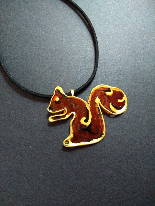 The Caramel Squirrel Necklace