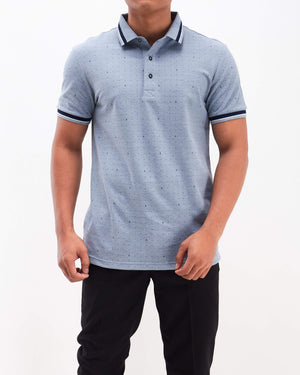 A&X Dots Print Men Polo Shirt 19.90