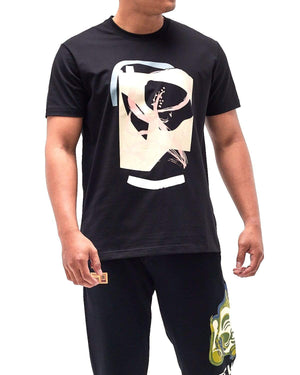 Brush Paint Print Men T-Shirt 14.90