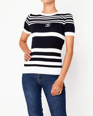 CC Lady Stripe Knit T-Shirt 22.90