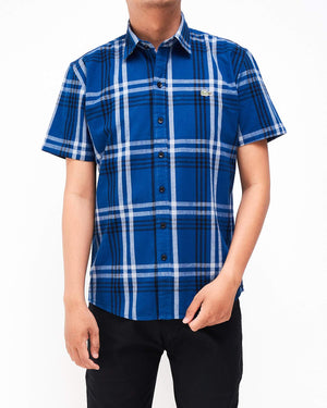 Checked Men Short Sleeve Shirt 14.90
