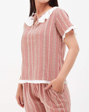 Checkered Lady Top 9.90