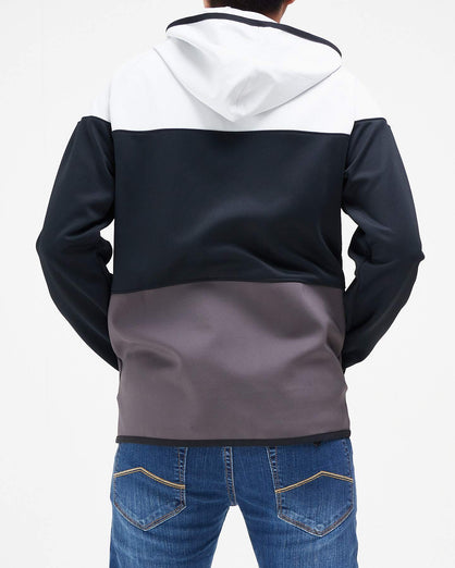 Color Block Men Zipped Hoodie 16.90