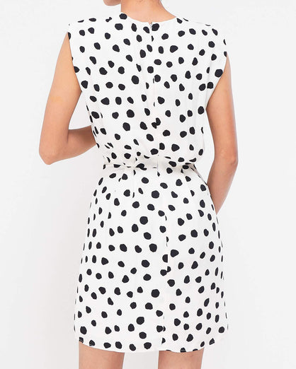 Dots Lady Sleeveless Dresses 13.90