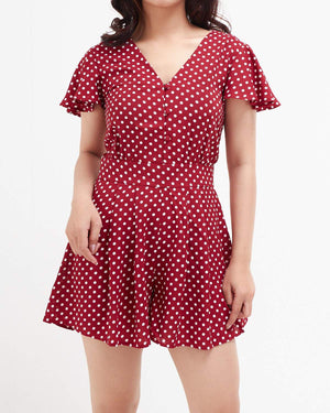 Dots Lady Frill Jumpsuit 19.90