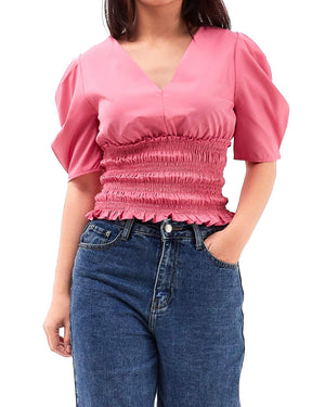 Elasticated Lady V Neck Top 17.90