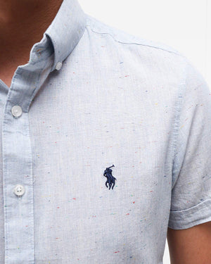 Embroidered Logo Men Short Sleeve Shirt 18.90