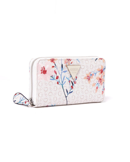 Floral Embossed Leather Long Wallet 29.90