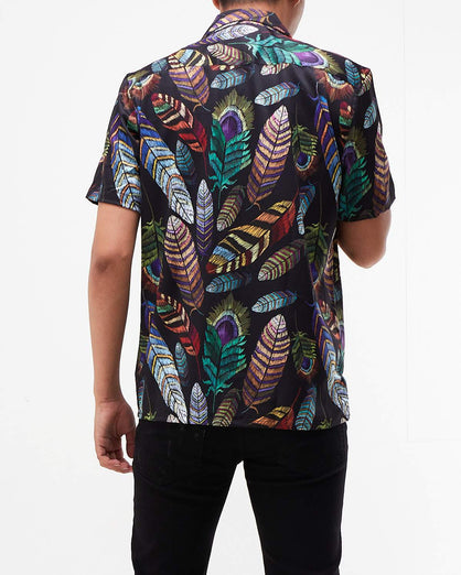 Floral Men Short Sleeve Shirt 14.50