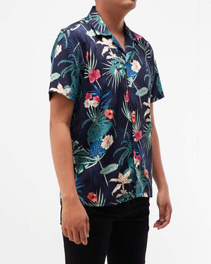 Floral Pattern Men Short Sleeve Shirt 14.50