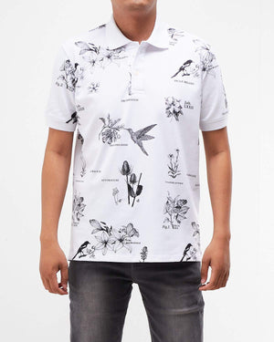 Floral Print Men Polo Shirt 16.90