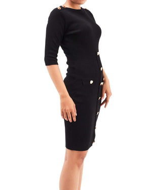 Front Button Lady Tight Dress 34.90