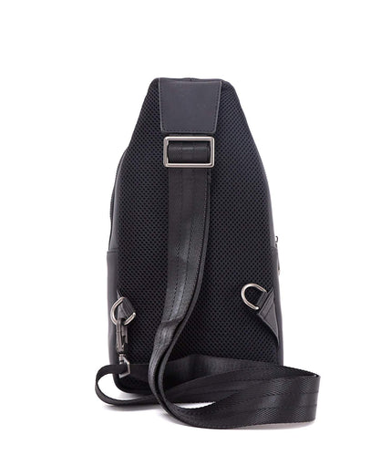 Intrecciato weave leather Men Sling Bag 62.90