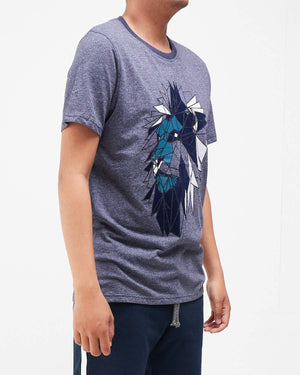 Lion Print Men T-Shirt 11.50