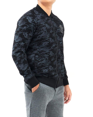 Zipper Camo Men Bomber Jacket 17.90