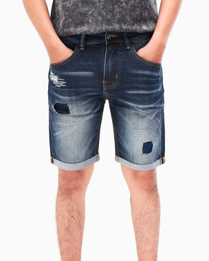 Distress Men Patch Short Jean 17.90
