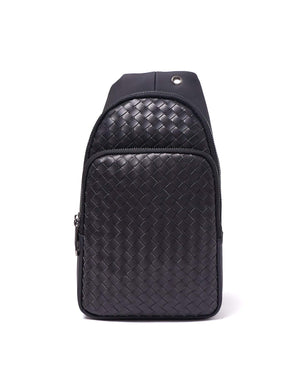 Intrecciato Weave Men Leather Sling Bag 62.90
