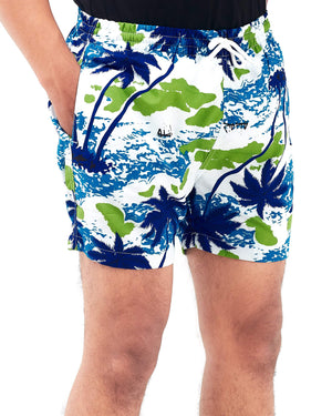 Coconut Tree Print Men Swim Short 12.90