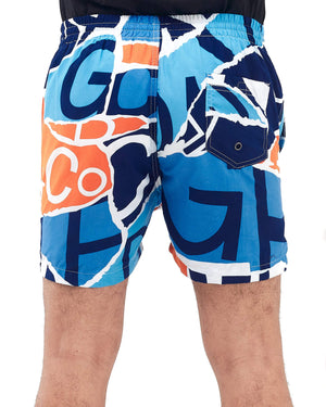 Elastic Graphic Print Men Swim Short 12.90