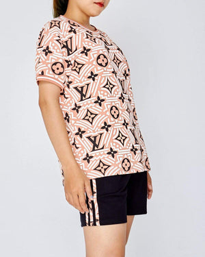 Monogram All Over Print Lady T-Shirt 18.90