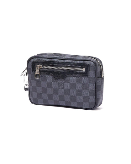 Monogram Men Domino Leather Clutch Bag 82.90