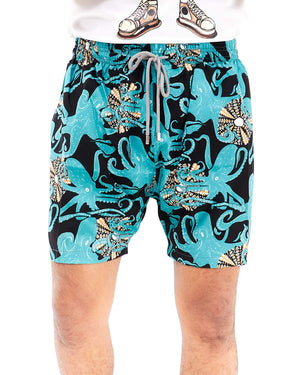 Octopus Print Men Swim Short 13.90