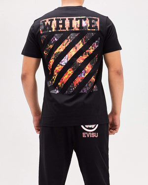 OW Red Flame Print Men T-Shirt 15.50