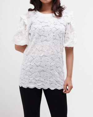 Puff Sleeve Lady Lace Top 16.90