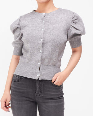 Puff Sleeves Lady Frill Top 17.90