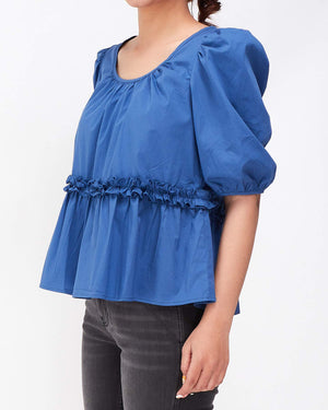 Puff Sleeves Lady Frill Top 13.90