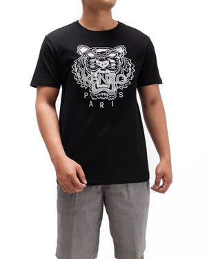 Silver Tiger Head Embroidery Men T-Shirt 24.90