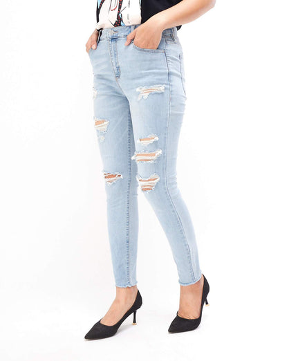 Slim Fit Lady Distressed Jeans 13.90