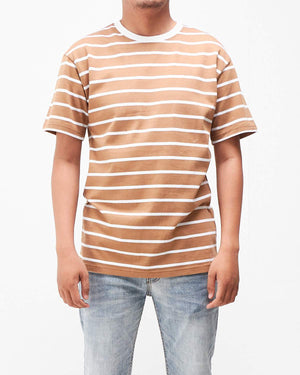 Loose Men Stripe T-Shirt 12.90