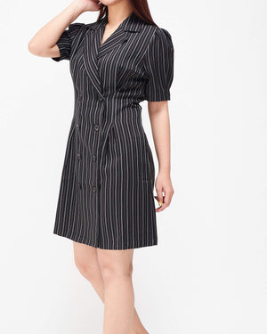 Stripes Textile Lady Blazer Dress 20.90