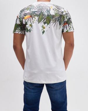 Tropical Print Men T-Shirt 13.90