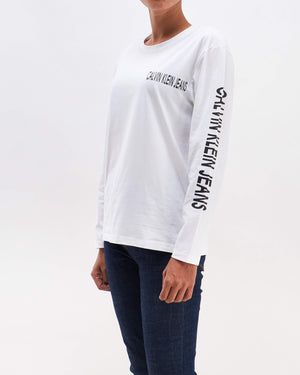 Typography Print Lady Long Sleeve T-Shirt 13.50