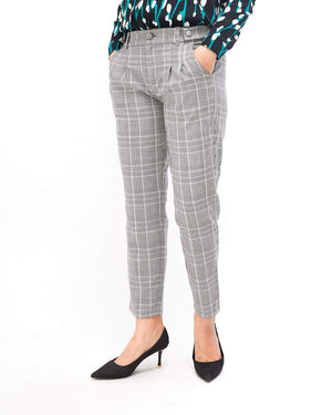 Slim Fit Lady Checkered Pant 17.50