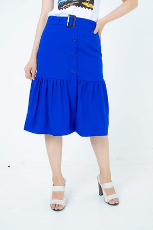 Waist Belt Lady Ruffle Skirt 12.90