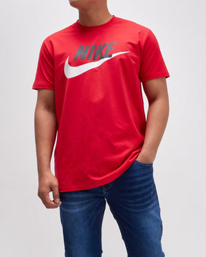 White Swoosh Print Men T-Shirt 14.50