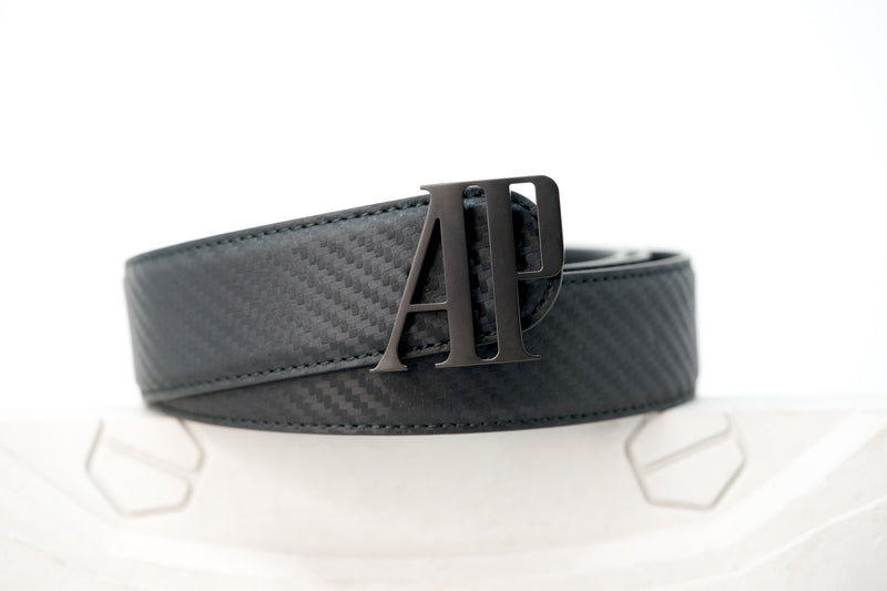 Luxury Designer Goods Audemars Piguet Black Leather Belt Available at TimeTradersOnline.com