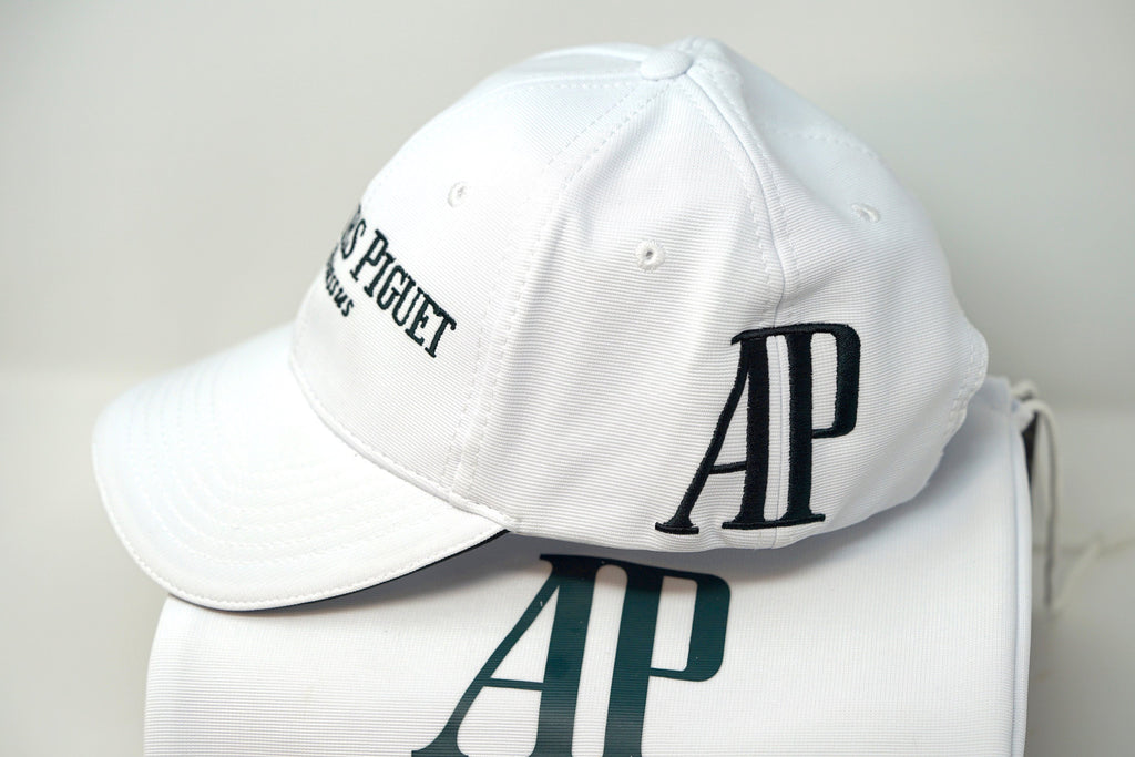White Audemars Piguet Hat Black AP Logo Luxury Cotton