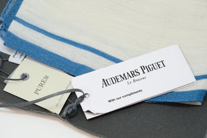 New AP Scarf Blue and White Cashmere